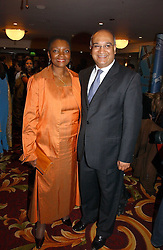 BARONESS AMOS and KEITH VAZ MP at the 10th Anniversary Asian Business Awards 2006 at the London Grosvenor Hotel Park Lane, London on 19th April 2006.<br />