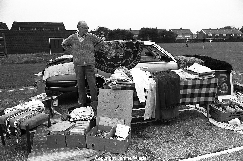 Sellers at the famous Sunday bootfair in Dover 1989