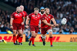 England Flanker Chris Robshaw (capt) in action - Mandatory byline: Rogan Thomson/JMP - 07966 386802 - 18/09/2015 - RUGBY UNION - Twickenham Stadium - London, England - England v Fiji - Rugby World Cup 2015 Pool A.