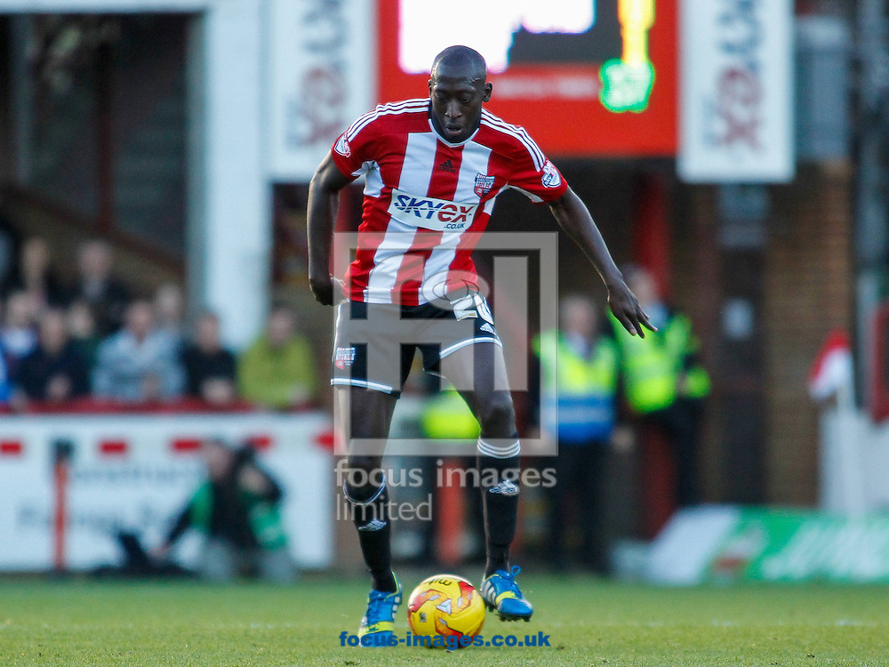 Toumani Diagouraga of Brentford during the Sky Bet Championship match between Brentford and Derby County at Griffin Park, London<br /> Picture by Mark D Fuller/Focus Images Ltd +44 7774 216216<br /> 01/11/2014