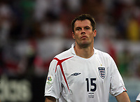 Photo: Chris Ratcliffe.<br /> England v Portugal. Quarter Finals, FIFA World Cup 2006. 01/07/2006.<br /> Jamie Carragher of England.