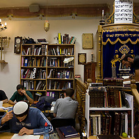 **FILE** Yeshivah (talmudic school) student pray and study in a synagogue that belong to Ateret Cohanim, a right-wing&nbsp;NGO that&nbsp;works diligently to acquire Palestinian homes in the Muslim Quarter of the Old City in Jerusalem.<br />