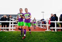 Lucy Graham of Bristol City and Juliette Kemppi of Bristol City - Mandatory by-line: Ryan Hiscott/JMP - 14/10/2018 - FOOTBALL - Stoke Gifford Stadium - Bristol, England - Bristol City Women v Birmingham City Women - FA Women's Super League 1