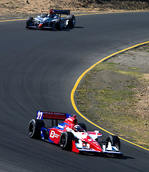 Hideki Mutoh (27) during the 2009 Sonoma Grand Prix IndyCar race was held at Infineon Raceway in Sonoma, California on August 23, 2009.
