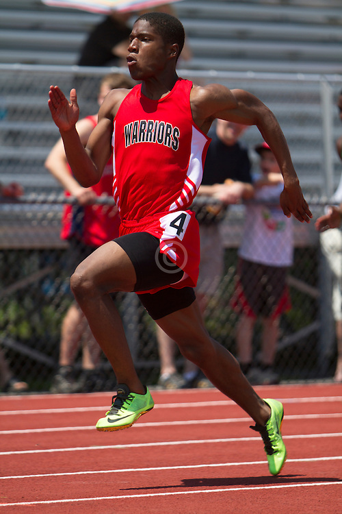 Denzel Tomaszewski, Wells, senior, Maine State Track & Field Meet - Class B; 100 meters