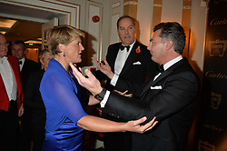 Left to right, CLARE BALDING, the HON.HARRY HERBERT and LAURENT FENIOU at the 26th Cartier Racing Awards held at The Dorchester, Park Lane, London on 8th November 2016.