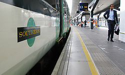 File photo dated 08/07/16 of a Southern railway train, as Southern Railway is taking legal action to try to stop a series of strikes from tomorrow, said the RMT union.