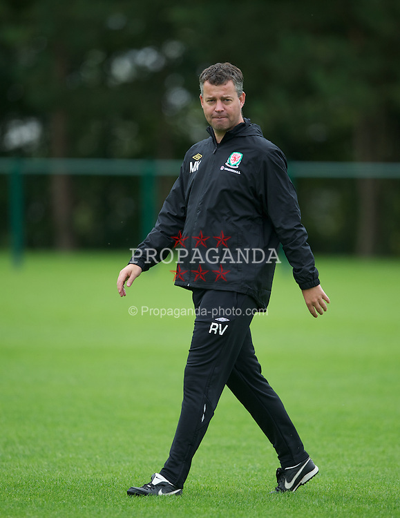 NEWPORT, WALES - Monday, August 29, 2011: Wales' assistant manager Raymond Verheijen during a training session at the Glamorgan Sport Park ahead of the UEFA Euro 2012 Qualifying Group G match against Montenegro. (Pic by David Rawcliffe/Propaganda)