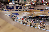 21 January 2007: Men's Madison cyclist doing laps  at the UCI Track Cycling World Cup Classics @ the Home Depot Center, Carson CA.