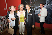 "Presentation of Salon 2008 magazine at Rudolf Budja Galerie. From l.: Elke Polzer, Countess Marianne of Sayn-Wittgenstein-Sayn (""Manni""), Rudolf Budja, Dr. Bodo Polzer (Editor)."