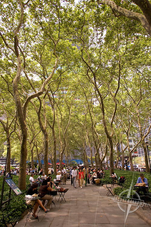 Bryant Park behind the NY Public Library on 42nd St in NYC.