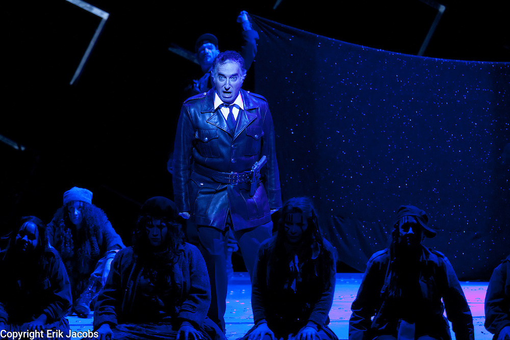 10/31/11 Boston, MA -- A dress rehearsal for the Boston Lyric Opera's production of MacBeth at The Citi Performing Arts Center Shubert Theatre October 31, 2011.  Music by Giuseppe Verdi, Libretto by Francesco Maria Piave and Andrea Maffei.  Photo by Erik Jacobs for the BLO