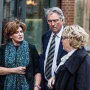 NLD/Amsterdam//20170309 - Herdenkingsdienst Guus Verstraete, Ron Brandsteder en Partner Yvonne Baggen en  Marianne van Wijnkoop
