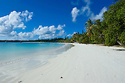 White sand beach, Bay de Kanumera, Ile des Pins, New Caledonia, Melanesia, South Pacific
