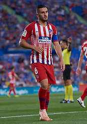 September 22, 2018 - Madrid, U.S. - MADRID, SPAIN  - SEPTEMBER 22: Koke,of Atletico de Madrid looks during the La Liga match between Getafe CF and Atletico de Madrid at  Coliseum Alfonso Perez stadium on September 22, 2018, in Getafe, Spain. (Photo by Carlos Sanchez Martinez/Icon Sportswire) (Credit Image: © Carlos Sanchez Martinez/Icon SMI via ZUMA Press)