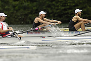 2006 FISA World Cup, Lucerne, SWITZERLAND, 07.07.2006. NZL M4- bow pair, Photo  Peter Spurrier/Intersport Images email images@intersport-images.com.[Friday Morning]...[Mandatory Credit Peter Spurrier/Intersport Images... Rowing Course, Lake Rottsee, Lucerne, SWITZERLAND.