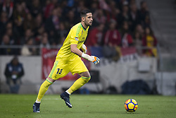 November 18, 2017 - Madrid, Madrid, Spain - Kiko Casilla during the match between Atletico de Madrid and Real Madrid, week 12 of La Liga at Wanda Metropolitano stadium, Madrid, SPAIN - 18th November of 2017. (Credit Image: © Jose Breton/NurPhoto via ZUMA Press)