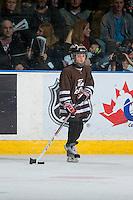 KELOWNA, CANADA - JANUARY 7: Mini minor hockey players scrimmage during intermission at the Kelowna Rockets against the Kamloops Blazers on January 7, 2017 at Prospera Place in Kelowna, British Columbia, Canada.  (Photo by Marissa Baecker/Shoot the Breeze)  *** Local Caption ***