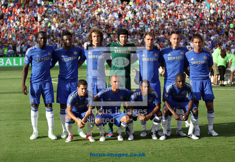 Picture by Adam Kiefer/Focus Images Ltd. +1 (407) 558-3756.28/07/12.Chelsea Team Photo, 2012 Herbalife World Football Challenge friendly match at Sun Life Stadium, Miami, Florida.