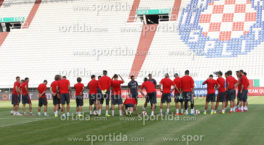 11.06.2015, Stadion Poljud, Split, CRO, UEFA Euro 2016 Qualifikation, Kroatien vs Italien, Gruppe H, Training Kroatien, im Bild das Kroatische Nationalteam beim Training // during trainig of Team Croatia prior to the UEFA EURO 2016 qualifier group H match between Croatia and and Italy at the Stadion Poljud in Split, Croatia on 2015/06/11. EXPA Pictures &copy; 2015, PhotoCredit: EXPA/ Pixsell/ Ivo Cagalj<br /> <br /> *****ATTENTION - for AUT, SLO, SUI, SWE, ITA, FRA only*****