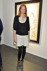 OLIVIA INGE at a private view of works by Fernando Botero held at the Opera Gallery London, 134 New Bond Street, London on 10th February 2015.