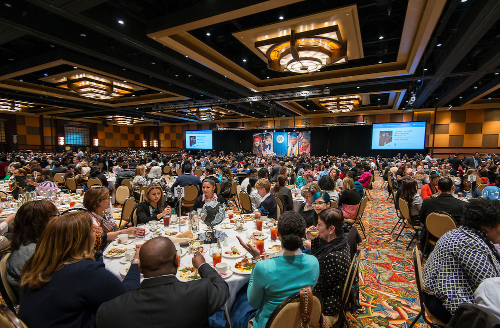 during the State of the Schools luncheon, February 11, 2015.