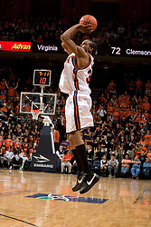 Virginia forward Adrian Joseph (30) shoots a three pointer against Clemson.  The Virginia Cavaliers men's basketball team fell the Clemson Tigers at 82-51 the John Paul Jones Arena in Charlottesville, VA on February 7, 2008.