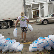 MARATHON, FL - SEPTEMBER 16: <br /> Free food, ice and water given out in front of a bar on Duval Street in Key West on September 16, 2017 in Marathon, Florida.  (Photo by Angel Valentin/Getty Images)