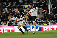 DERBY, ENGLAND - MAY 11: - DCFC vs Fulham. Bradley Johnson, gets a foot to the ball