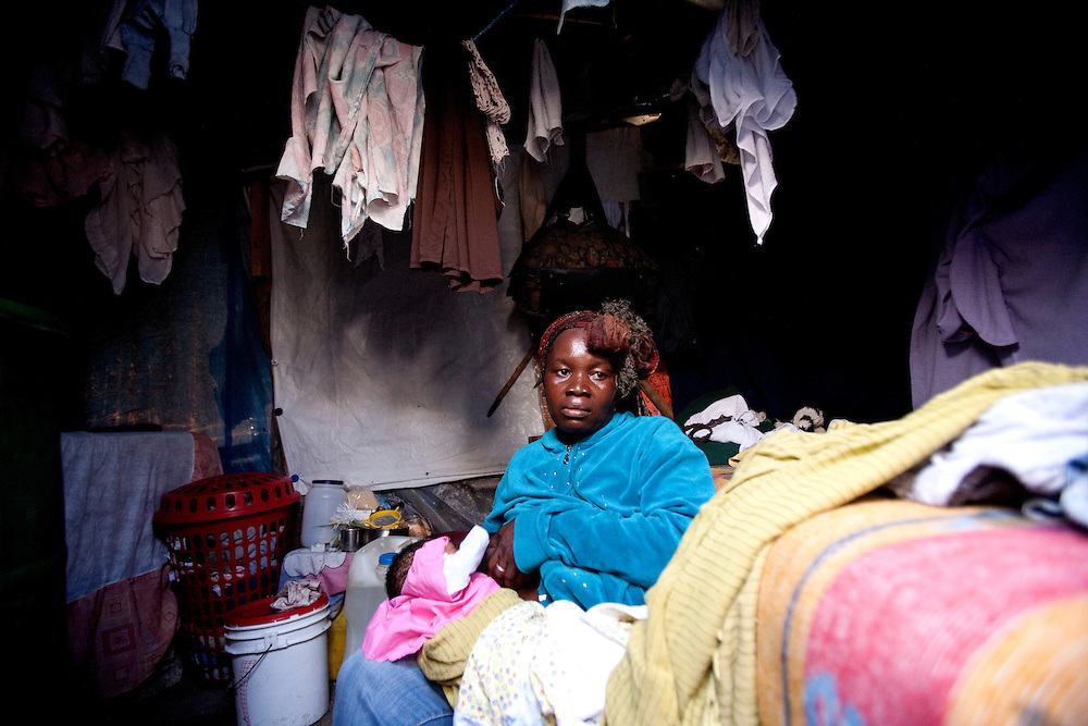 "In the days following Haiti's deadly Jan. 12, 2010, earthquake, Clairmine Josile cobbled together a shelter of sticks and cloth in at Camp La Piste, a tent city that houses some 50,000 refugees. She was in the tent with her children, when a gang of men with guns ripped open the shelter, covered the women's faces and raped them. ""I don't know how many people walked in, all I know was that they raped,"" she said. A friend advised Clairmine to see a doctor, but she was too ashamed to admit the rape. Within weeks, she realized she'd become pregnant as a result of the attack. The baby was born in the camp one more mouth to feed at Camp La Piste"