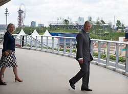 The Prince of Wales and the Duchess of Cornwall tour the Olympic Park velodrome in London  Wednesday 13th June 2012. Photo by: i-Images