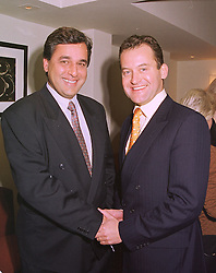 Left to right, DR HASNAT KHAN a friend of the late Diana, Princess of Wales and MR PAUL BURRELL Diana, Princess of Wales' former butler, at a luncheon in London on 17th November 1998.MMA 16