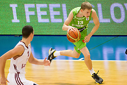 Miha Lapornik of Slovenia during basketball match between National teams of Latvia and Slovenia in Qualifying Round of U20 Men European Championship Slovenia 2012, on July 16, 2012 in Domzale, Slovenia. (Photo by Vid Ponikvar / Sportida.com)