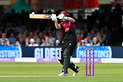Tom Abell of Somerset goes on the attack during the Royal London 1 Day Cup Final match between Somerset County Cricket Club and Hampshire County Cricket Club at Lord's Cricket Ground, St John's Wood, United Kingdom on 25 May 2019.