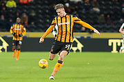 Angus MacDonald of Hull City during the EFL Sky Bet Championship match between Hull City and Barnsley at the KCOM Stadium, Kingston upon Hull, England on 27 February 2018. Picture by Craig Zadoroznyj.