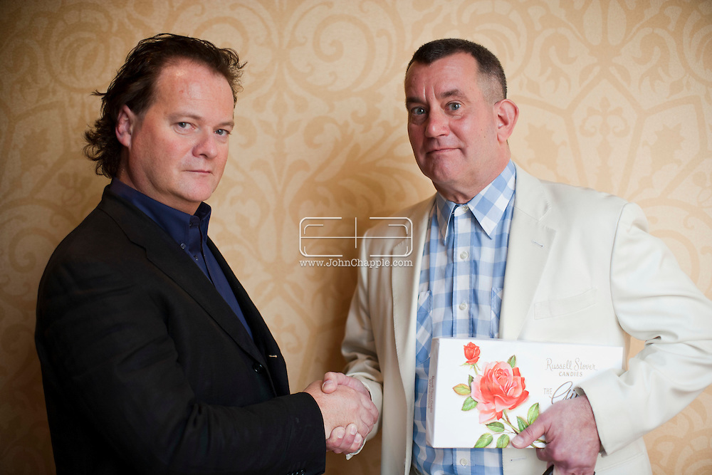 24th February 2011. Las Vegas, Nevada.  Celebrity Impersonators from around the globe were in Las Vegas for the 20th Annual Reel Awards Show. Pictured is Sean Connolly from Reading as Tom Hanks and Steve Weber as Forrest Gump. Photo © John Chapple / www.johnchapple.com..