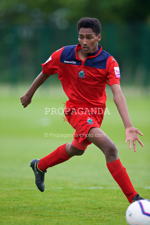 NEWPORT, WALES - Wednesday, May 27, 2015: North WPL Academy Boys' Michael Johnson during the Welsh Football Trust Cymru Cup 2015 at Dragon Park. (Pic by David Rawcliffe/Propaganda)