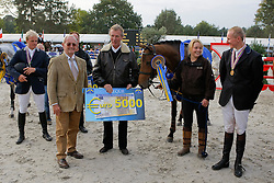 Greeve Michael, (NED), Ubalia, Zuchter Johan Heins, Leon Melchior<br /> World Championship Young Horses Lanaken 2008<br /> © Hippo Foto-Dirk Caremans
