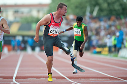 REARDON Scott, POPOW Heinrich, AUS, GER, 100m, T42, 2013 IPC Athletics World Championships, Lyon, France