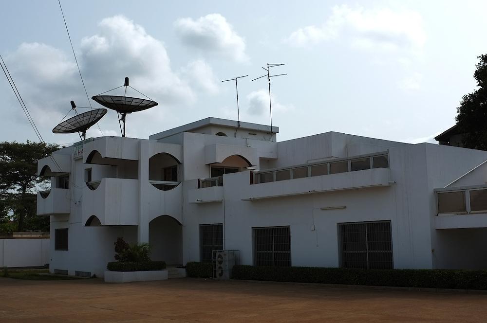 LOME, TOGO  13-03-20   - The office of the Haute Autorité de l'Audiovisuel et de la Communication (HAAC), the regulatory body of media organizations in Togo. Photo by Daniel Hayduk
