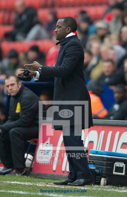 Picture by Alan Stanford/Focus Images Ltd +44 7915 056117.23/02/2013.Manager Chris Powell of Charlton Athletic  during the npower Championship match at The Valley, London.