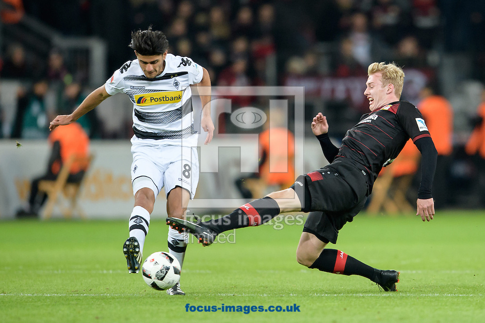 Julian Brandt of Bayer Leverkusen and Mahmoud Dahoud  of Borussia Monchengladbach during the Bundesliga match at BayArena, Leverkusen<br /> Picture by EXPA Pictures/Focus Images Ltd 07814482222<br /> 28/01/2017<br /> *** UK &amp; IRELAND ONLY ***<br /> <br /> EXPA-EIB-170129-0036.jpg