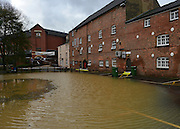 © Licensed to London News Pictures. 22/11/2012. Oxfordshire, UK The River Cherwell flooded the Mill Arts Centre in Banbury. Flooding in Oxfordshire today 22 November 2012. Heavy rain across large parts of the South West of the country has caused widespread flooding. Photo credit : Stephen Simpson/LNP