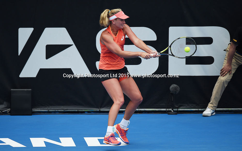 USA's CoCo Vandeweghe in action on Quarter Finals day at the ASB Classic WTA International. ASB Tennis Centre, Auckland, New Zealand. Thursday 8 January 2015. Copyright photo: Andrew Cornaga/www.photosport.co.nz