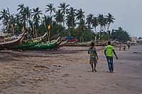 Couple Walking along the Beach, Kokrobite