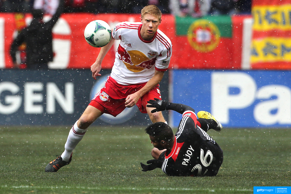 Markus Holgersson, New York Red Bulls, in action during the New York Red Bulls V D.C. United, Major League Soccer regular season match at Red Bull Arena, Harrison, New Jersey. USA. 16th March 2013. Photo Tim Clayton