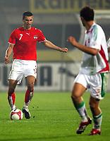 Fotball<br /> Privatlandskamp<br /> Østerrike v Ungarn<br /> Foto: Gepa/Digitalsport<br /> NORWAY ONLY<br /> <br /> 16.08.2006<br /> Paul Scharner (AUT) und Roland Juhasz (HUN)