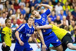 Ziga Mlakar of RK Celje PL during handball match between RK Gorenje and RK Celje Pivovarna Lasko in 5th Round of 1st NLB Leasing Slovenian Champions League 2015/16, on May 11, 2016, in Red arena, Velenje, Slovenia. Photo by Vid Ponikvar / Sportida