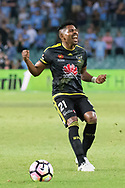 February 8, 2017: Wellington Phoenix Roy KRISHNA (21) screams disappointment at Round 19 of the 2017 Hyundai A-League match, between Sydney FC and Wellington Phoenix played at Allianz Stadium in Sydney. Sydney FC won the game 3-1.