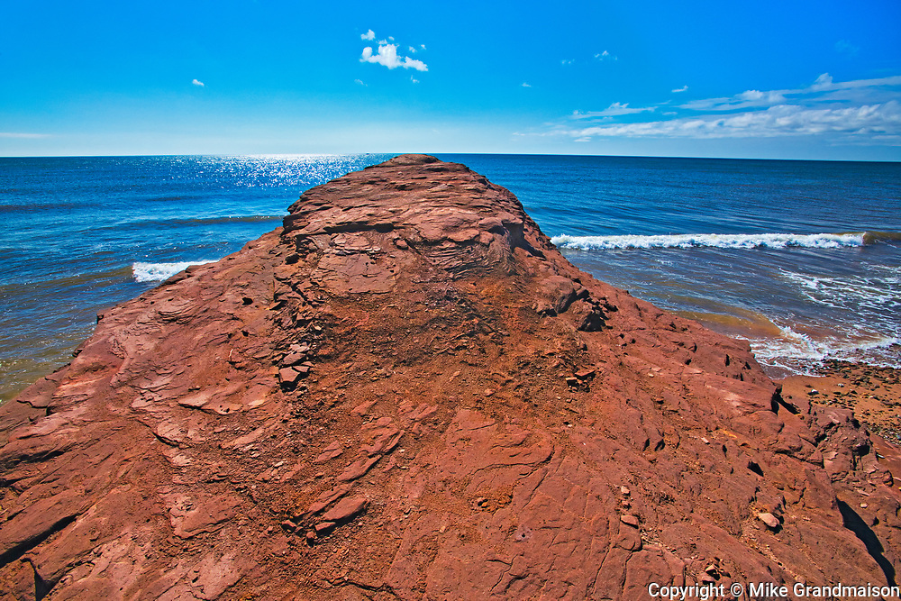 Shoreline on the  south shore of Miramichi Bay, Escuminac, New Brunswick, Canada